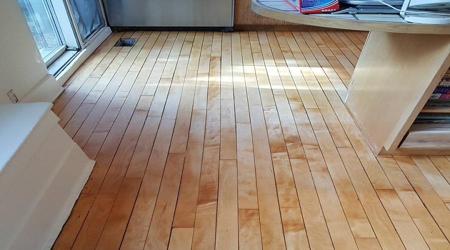light colored wood floor