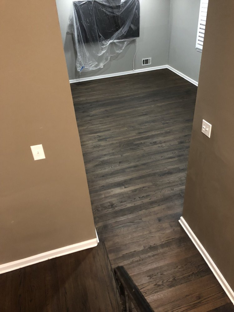 grey/brown wood floor